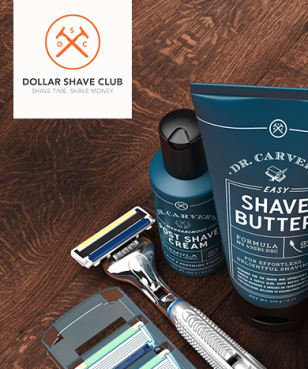 Dollar Shave Club - best in market blue