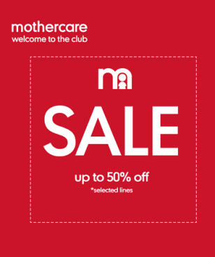 Mothercare - Up to 50% off