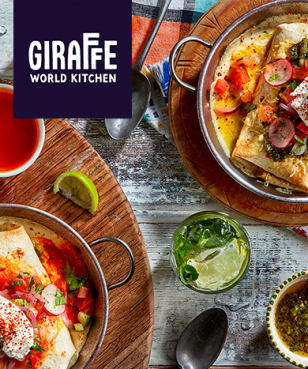 Giraffe World Kitchen - 2 for 1