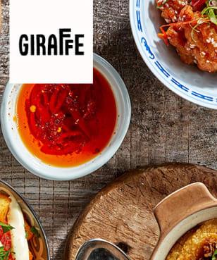 Giraffe World Kitchen - 2 for 1