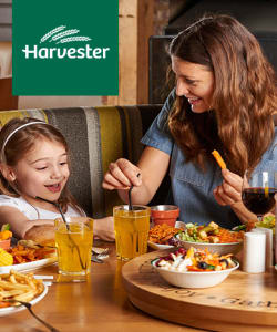 Harvester - Harvester - Kids Eat for £1 Plus Beer & Burger or Steak & Ribs Offers at Harvester