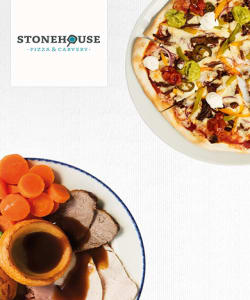 Stonehouse Pizza & Carvery - Stonehouse Pizza & Carvery - 33% Off Food or Kids Eat for £1 at Stonehouse Pizza & Carvery