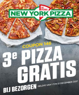 Exclusief: Ontvang je derde pizza Gratis bij New York Pizza