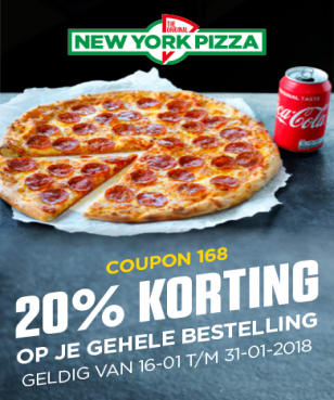New York Pizza - 20%