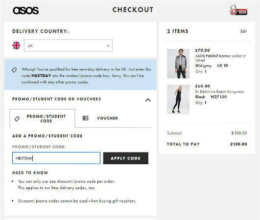 Check Your New Ed Before Confirming And Paying For Order Asos Promo Code