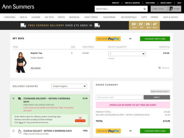 Ann Summers promo codes