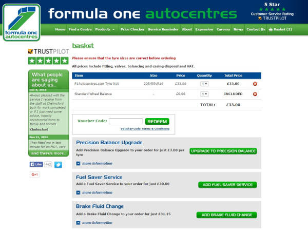 F1 autocentre voucher codes