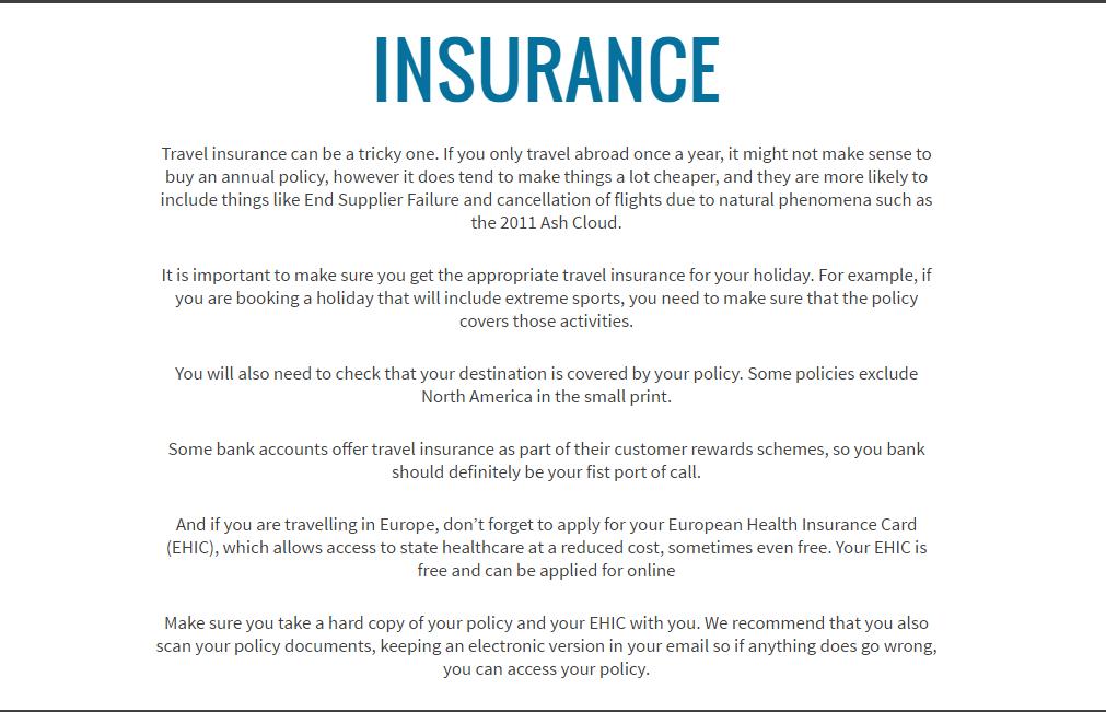 Hidden Travel Insurance