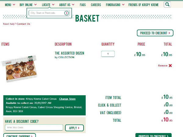 Krispy Kreme promo codes