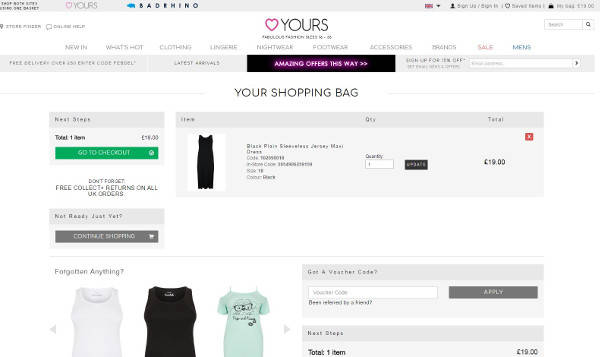 15% Off → Yours Clothing Voucher Codes for September 2019