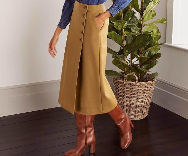 Boden Darcey Midi Skirt