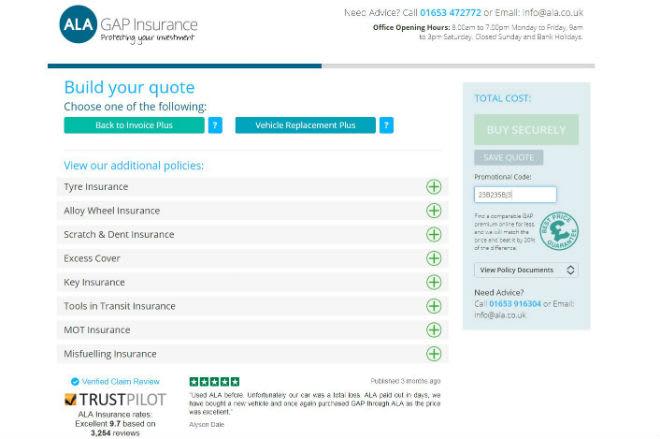 ALA GAP Insurance Voucher Code