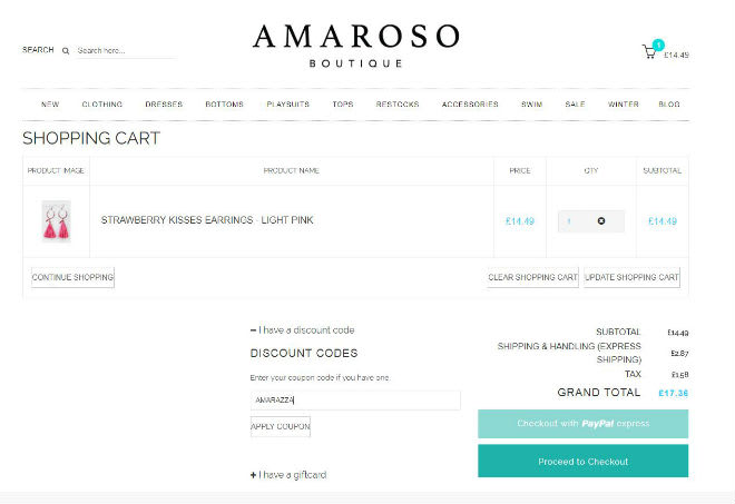 Amaroso Boutique Coupon