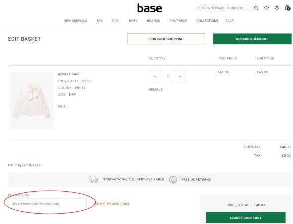 Base Fashion Promo Code