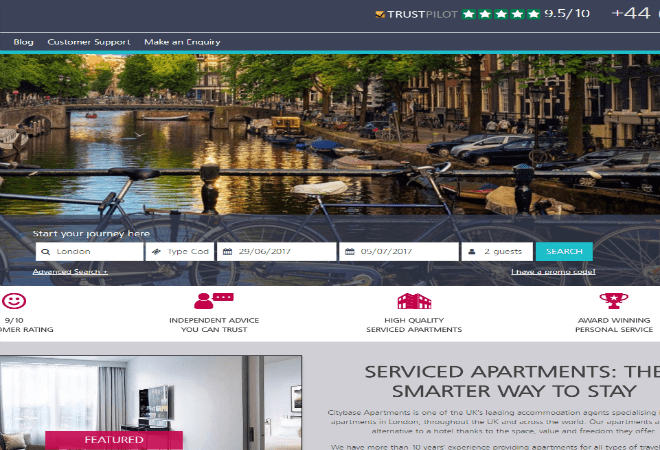 citybase apartments discount code