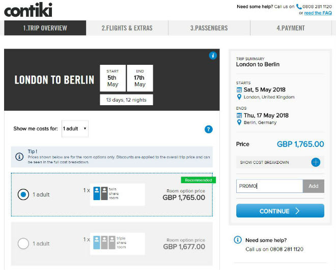 Contiki Discount Code