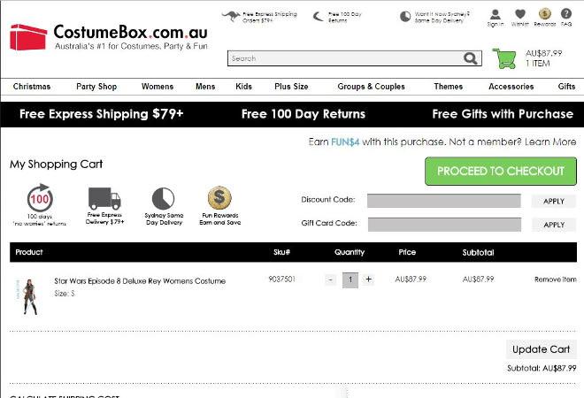 CostumeBox discount code