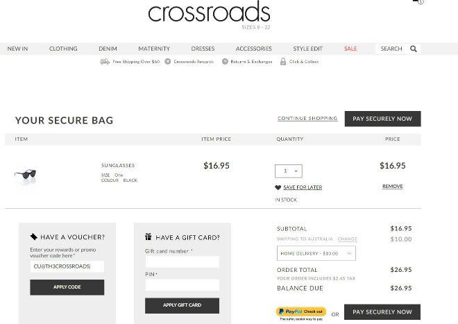 Crossroads Promo Code