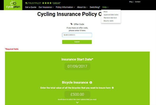 Cycleplan Offer Code