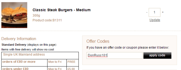 Free £5 Gift Card → Donald Russell Voucher for August 2019