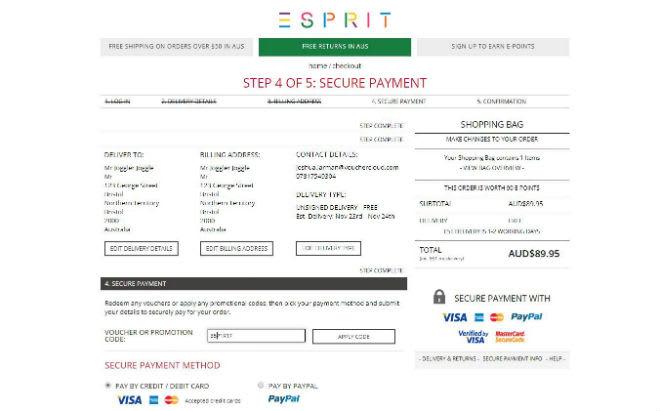 Esprit Discount Code