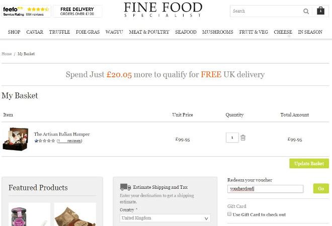 Fine Food voucher