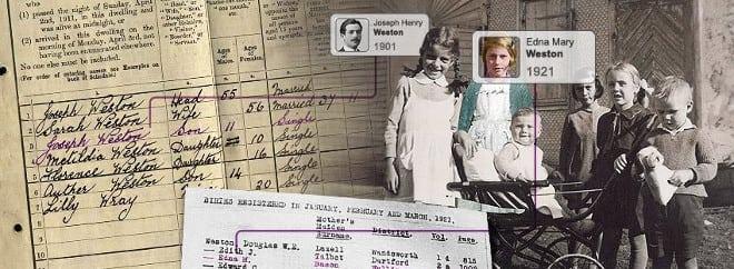 Genes Reunited family tree