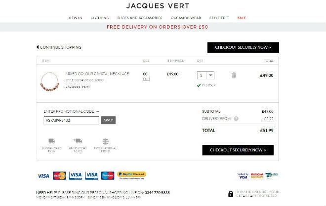 Jacques Vert Promo Code
