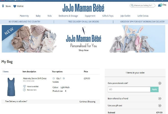 JoJo Maman Bebe discount