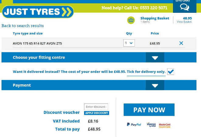 Free 10 Gift Card Just Tyres Discount Codes For January 2019