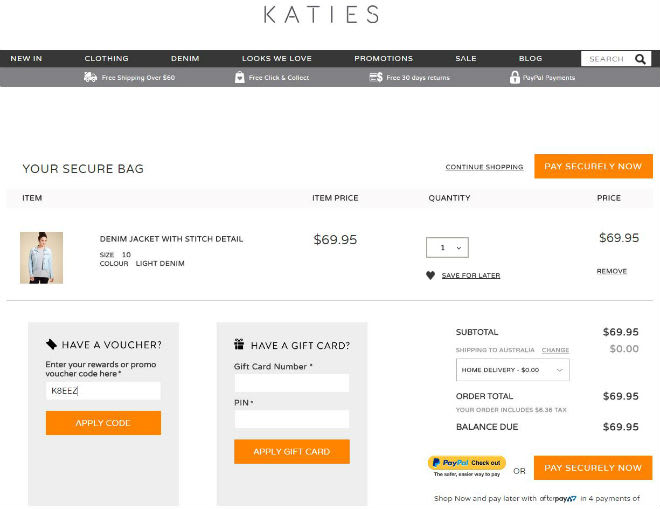Katies Voucher Code
