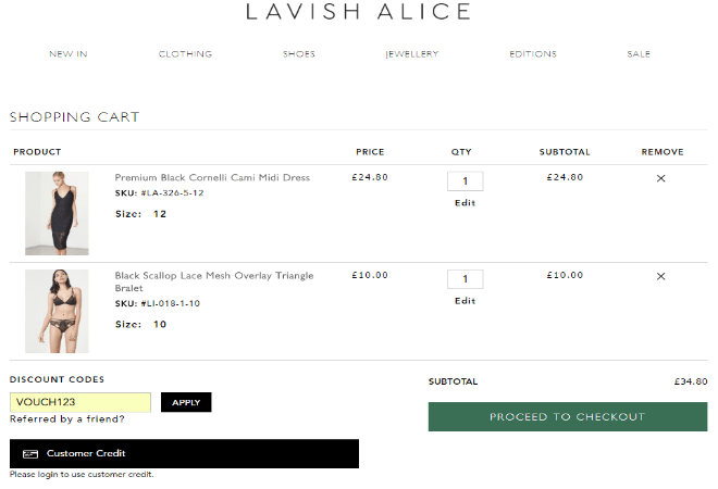 lavish alice discount code