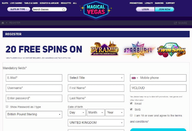 Magical Vegas promo code