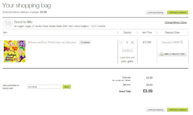 Marks and Spencer Personalised Voucher Code