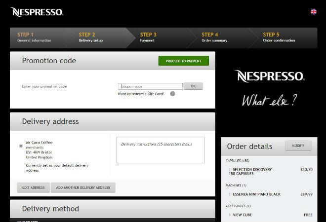 Nespresso discount code