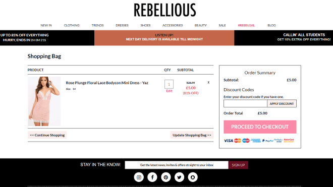 Rebellious Fashion discount code