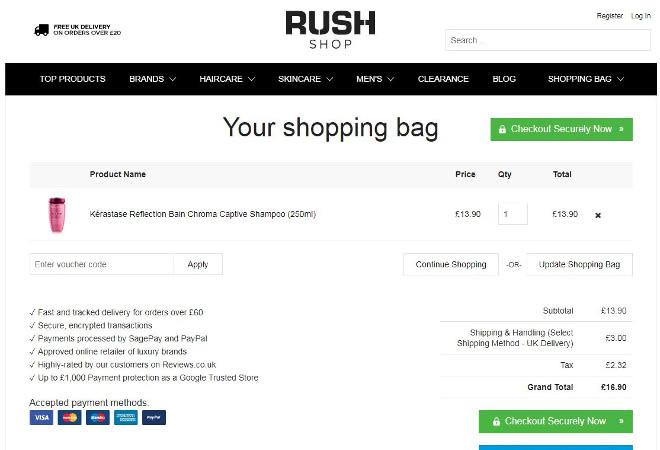 Rush Shop voucher