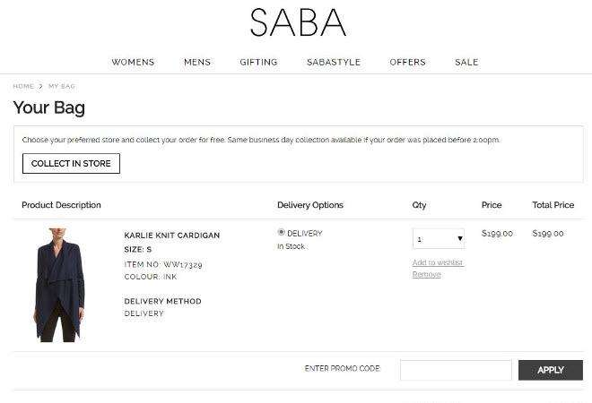 SABA promo code