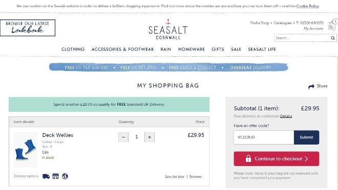Seasalt Cornwall offers