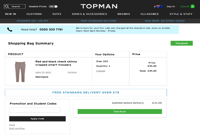 If you're trying to apply the voucher code at the checkout and nothing is happening then you'll need to double check the terms listed on the Topman discount code to see if sale or other selected items on promotion are excluded.
