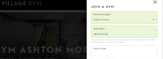 Village Gym promo code 1