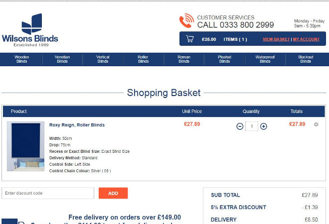 Wilsons Blinds discount codes