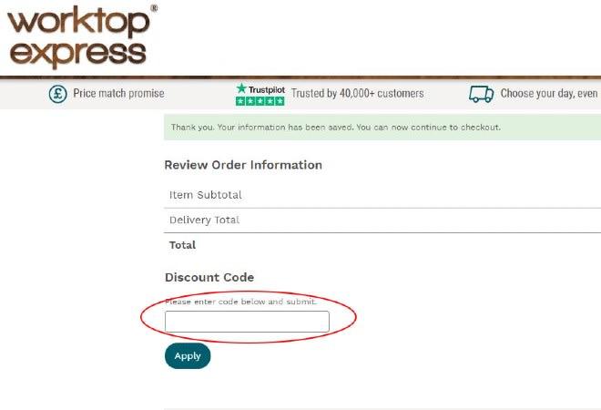 Worktop Express Discount Code