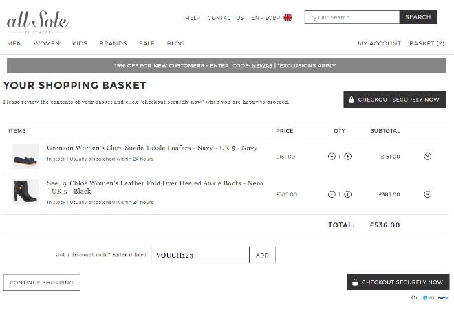 e24ac012926 AllSole Discount Codes   Voucher Codes → April 2019