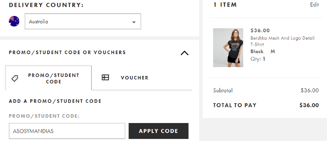 Bershka coupons code