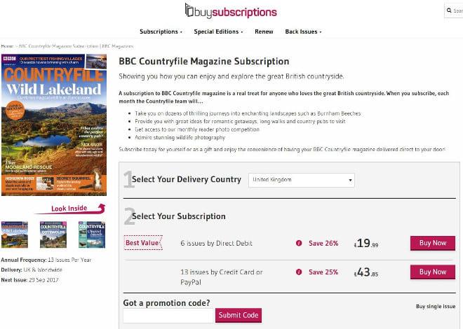 buysubscriptions promo code