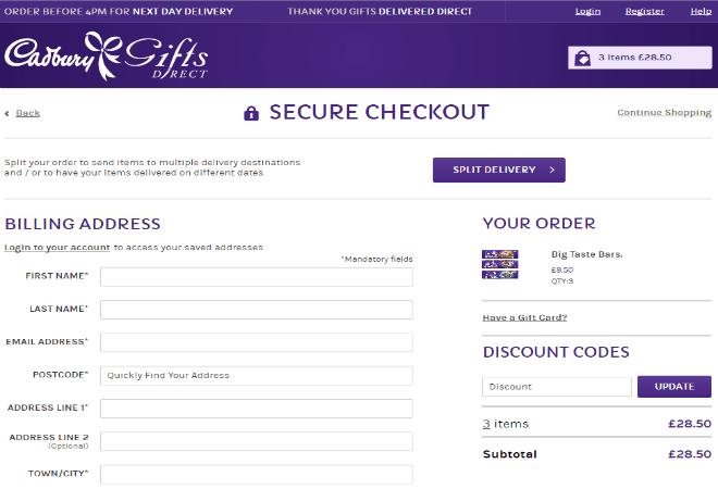 Cadbury Girts Direct Discount Code
