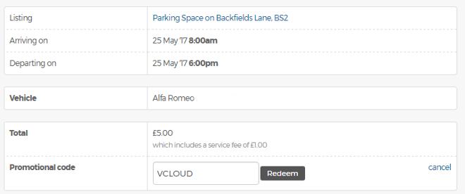 Just Park promo code