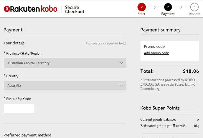 kobo promo code 1