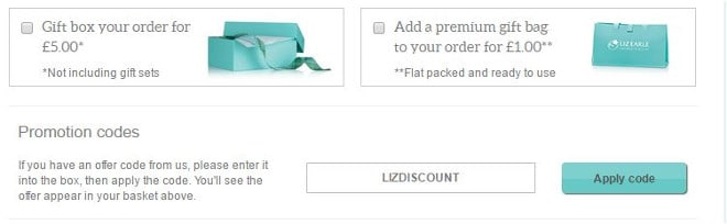 Liz earle gift bag
